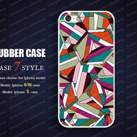 Rubber iPhone 4 Case iPhone 4s Case Iphone 5 case  Soft Rubber Case Silicon Rubber case beauifully colored G0013