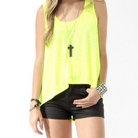 Neon Mesh Inset High-Low Tank | FOREVER 21 - 2000042215