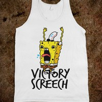 Victory Screech (tank) - Typography - Skreened T-shirts, Organic Shirts, Hoodies, Kids Tees, Baby One-Pieces and Tote Bags