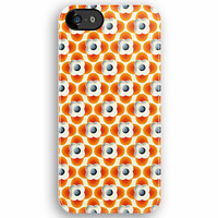 Orla Kiely repeated Orange Flower Pattern - Apple iPhone 5, iphone 4 4s, iPhone 3Gs, iPod Touch 4g case by Pointsalestore .com