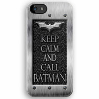 Keep Calm and call Batman at Chrome flat apple iphone 5, iphone 4 4s, iPhone 3Gs, iPod Touch 4g case by Pointsalestore .com