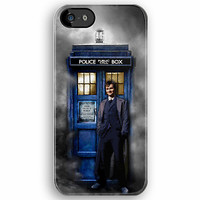 Tardis with doctor who with david tennant in the mist apple iphone 5, iphone 4 4s, iPhone 3Gs, iPod Touch 4g case
