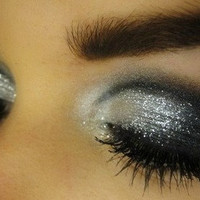 Silver Glitter Eyes Makeup Kit