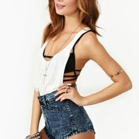 Dark Acid Denim Shorts - Blue