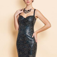 bodycone sequin cross cross back body hugging shinny dress