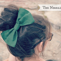 Hunter Green Hair Bow
