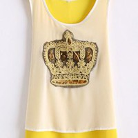 Crown Graphic Chiffon Tank