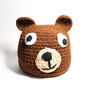 Brown bear  kids beanie- Childrens Crochet animal beanie- Brown kids hat