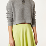 Knitted Textured Grunge Crop Jumper - Knitwear - Clothing - Topshop USA