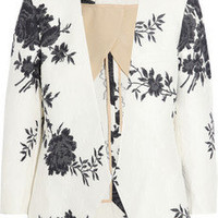 Chloé | Cotton-blend jacquard jacket | NET-A-PORTER.COM