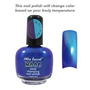 Mia Secret Mood Nail Lacquer Color Changing Nail Polish Teal Blue Morado to Azul