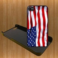 US Flag Custom Case/Cover FOR Apple IPhone 4 5 Samsung S3 /S4 BLACK/WHITE WITH FREE SCREEN PROTECTOR