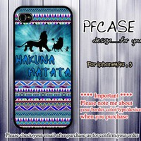 Lionking with Hakuna matata : Case For Iphone 4/4s ,5 / Samsung S2,3,4