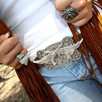 GUNS 'N WINGS BUCKLE