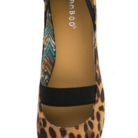 Bamboo Standouts-16a Leopard Animal Round Toe Mary Jane Flats and Shop Shoes at MakeMeChic.com