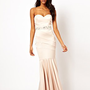 Lipsy VIP Bandeau Fishtail Maxi Dress with Embellished Waistband at asos.com