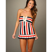 Juicy Couture Bandeau Swimdress w/ Removable Soft Cups