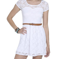 Sweetheart Crochet Skater Dress | Shop Dresses at Wet Seal