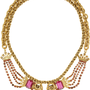 Elizabeth Cole Kissing Ram gold-plated Swarovski crystal necklace – 50% at THE OUTNET.COM