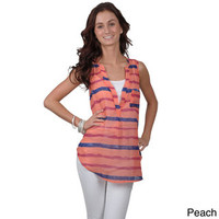 Journee Collection Juniors Sleeveless Sheer V-neck Top | Overstock.com