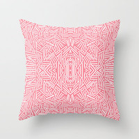 Radiate (Salmon) Throw Pillow by Jacqueline Maldonado
