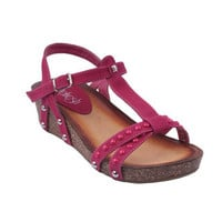 Refresh by Beston Women's 'DANICA-03' T-strap Wedge Sandals | Overstock.com