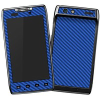 Textured Carbon Fiber Middle Blue Skin  for the Droid RAZR by skinzy.com