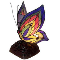 Tiffany Style Yellow Butterfly Accent Lamp | Overstock.com