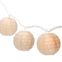 Eyelet Paper Lantern String Lights