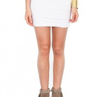Bella Luxx Shirred Mini Skirt | SINGER22.com