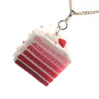 Heart Layer Cake Necklace in Pink Ombre  - Valentine's Day Earrings - Whimsical & Unique Gift Ideas for the Coolest Gift Givers
