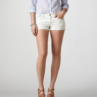 AE Embroidered Denim Shortie | American Eagle Outfitters
