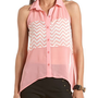 Cutout Back Color Block Tank: Charlotte Russe