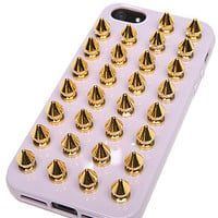 Felony Case The iPhone 5 Case in Lavender and Gold Spikes