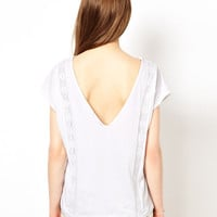 A Wear Embroidered Front Tee With V Back