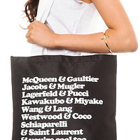 Dimepiece Designs The You're Cool Too Tote in Black