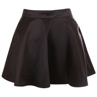 ROMWE | Black Satin Draped Skirt, The Latest Street Fashion