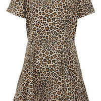Denim Leopard Skater Dress - New In This Week  - New In