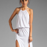 Blue Life Two Slit Halter Dress in White from REVOLVEclothing.com
