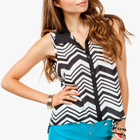 Zig Zag Sleeveless Shirt