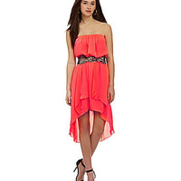 Jodi Kristopher Strapless Hi-Low Dress | Dillards.com
