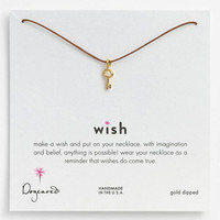 Dogeared 'Wish' Key Charm Necklace | Nordstrom