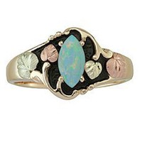 Antiqued Black Hills Gold Opal Ring - Ring Size 13