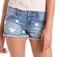 Star Cutout Denim Short: Charlotte Russe
