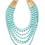 Seven-Strand Turquoise Bead Necklace