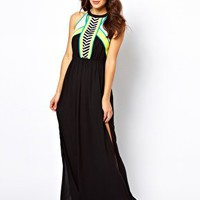 River Island Micha Maxi Beach Dress at asos.com