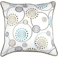 Modern Circles Multicolored Medium Decorative Pillow | Overstock.com