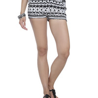 Tribal Print Knit Short | Shop Shorts at Wet Seal