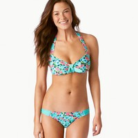 Aerie Floral Retro Halter Bikini Top | Aerie for American Eagle