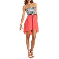 Belted Chevron Stripe Hi-Low Dress: Charlotte Russe